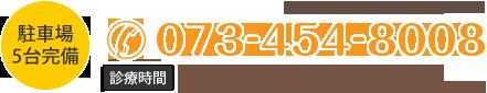 ホームページを見たとお伝えください 電話番号 073-454-8008 受付時間 月~金 9:00~12:30 / 14:00~19:30 土9:00~12:30